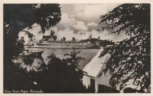 RPPC Cruise Ship from Paget, Bermuda - Queen of Bermuda per writer