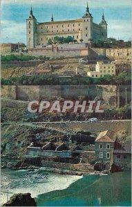 Postcard Modern Toledo Alcazar and Tajo river