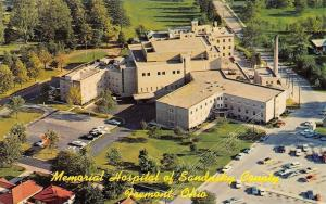Fremont Ohio~Memorial Hospital Of Sandusky County~1960 Postcard