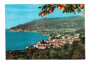 Italy Sorrento Panorama View from Villa Parisi Vintage 4X6 Postcard