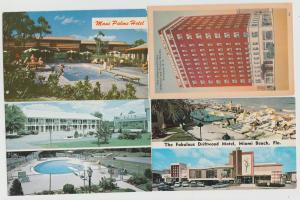 Lot of 4 hotel motel postcards