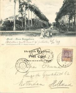 british guiana, GEORGETOWN, Brick-Dam (1899) Postcard