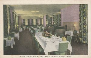 BILOXI, Mississippi, 1910-20s; Main Dining Room, The White House