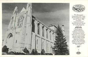 RPPC of Episcopal Cathedral of St. John the Evangelist Spokane WA