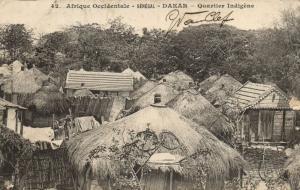 CPA Sénégal Afrique Fortier 42. Dakar - Quartier Indigéne (68177)