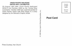 Union Pacific Railroad United Way Locomotive No. 3300
