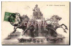 Lyon - Fontaine Bartholdi - Old Postcard