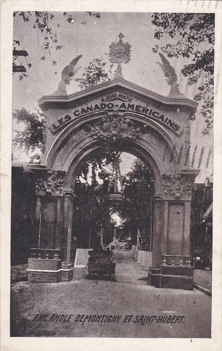 Arc, Angle Demontigny et SAINT-HUBERT, Montreal , Quebec , Canada , PU-1910