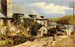 Vintage c1965 Postcard, Manor Street, Lower Dittisham, Devon 20X