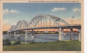 Illinois Rock Island New Centennial Bridge Curteich