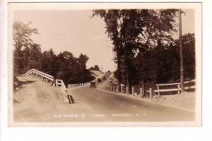 Real Photo, New Road & S Curve, Cars, Boscawen, New Hampshire, Photo E D Putn...