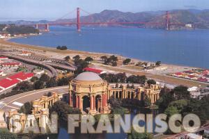Postcard San Francisco, The Palace of Fine Arts, California, USA K1