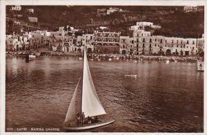 RP: CAPRI , Italy , 00-10s ; Sail Boat at Marina Grande