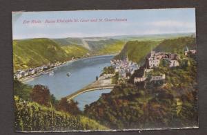 Rhein River View Of St Goar & St Goarshausen - Unused - Edge Wear