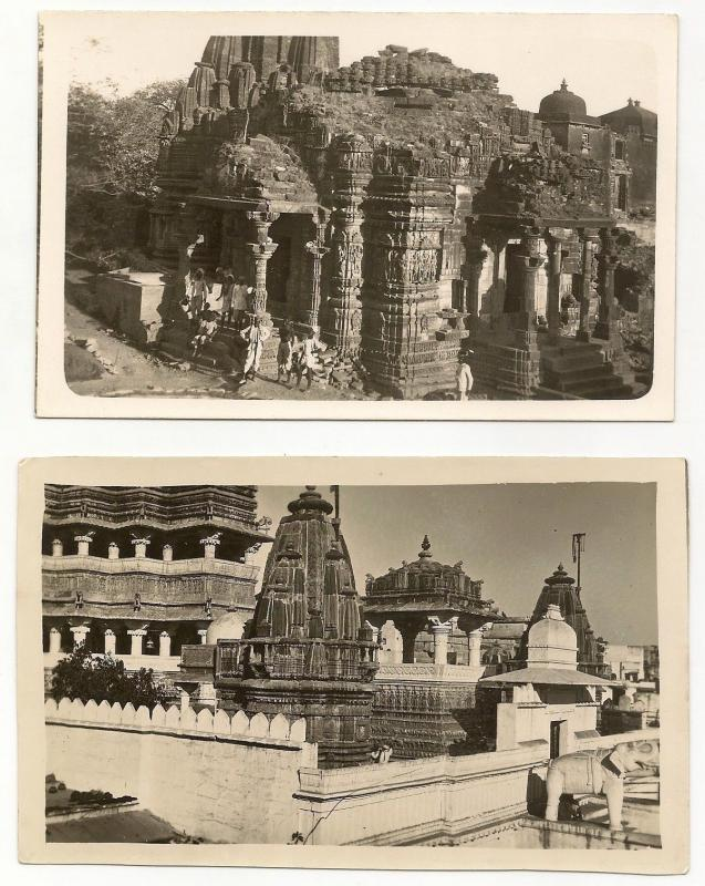 India Udaipur vintage postcard size photos (4)