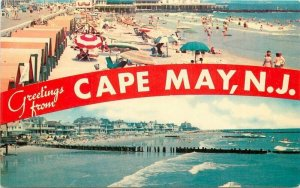 Beach Pier Cape May New Jersey 1950s Postcard Rickers Tichnor 6039