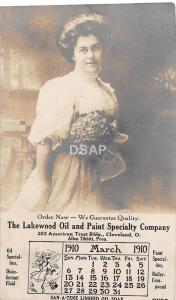 A82/ Lakewood Cleveland Ohio Postcard Real Photo RPPC Oil and Paint Company Ad