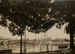 Vintage Postcard Salem Illinois Municipal Swimming Pool Real Picture Postcard