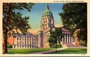 Kansas Topeka Kansas State Capitol Building 1944 Curteich