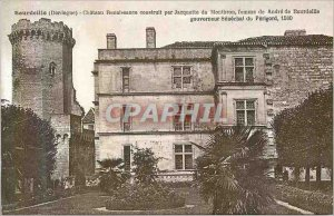 Postcard Old Bourdeille (Dordogne) Renaissance castle built by jacquette of m...