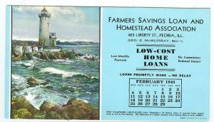 Feb 1940 Farmers Savings Loan & Homestead Assoc. Peoria ILL