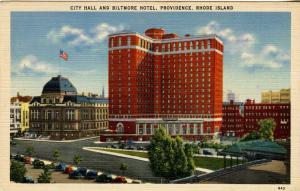 RI - Providence.  City Hall and Biltmore Hotel