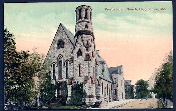 Presbyterian Church Hagerstown Maryland used c1914