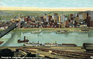 USA Pittsburgh Pennsylvania view 1908 Taken from Duquesne Heights 03.82