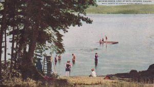 LAKE OF BAYS, Ontario, Canada, 1940-60s; Bathing Beach