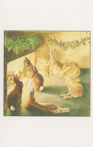 Beatrix Potter Book Rabbit Painting Around The Hearth Postcard