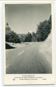 Palomar Observatory Highway California Frashers RPPC Real Photo postcard