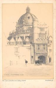 Art Sketch Postcard The Camera from Brasenose College Oxford by Fred Richards