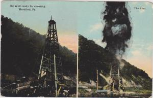 BRADFORD , Pennsylvania, 1914 : Oil Well Shooting