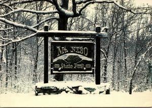 Arkansas Mt Nebo State Park Entrance Atop Arkansas Mountain