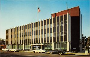 Tupelo Mississippi~Federal Building (US Post Office) on Main Street~50s-60s Cars
