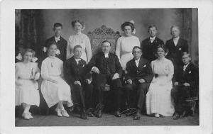 Avoca NY Scherer: Pastor Peterson~Wedin~Barsness~Magnuson~Barthelson~RPPC c1910