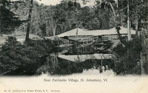 VT - St Johnsbury. Bridge near Fairbanks Village