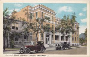 Marshall Lodge Memorial Hospital , LYNCHBURG , Virginia , 1910-20s