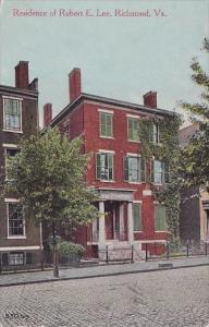 Residence Of Robert E Lee Richmond Virginia 1911