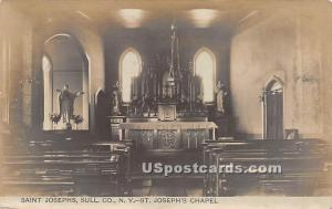 St Joseph's Chapel Saint Josephs NY 1909