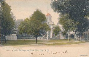 Penn Yan NY, New York - County Buildings and Park - pm 1906 - UDB