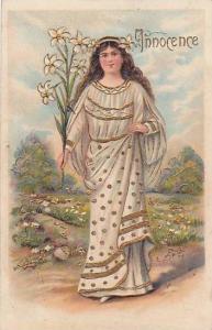 Innocence, Maiden holding flowers, PU-1912