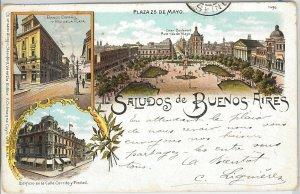 ARGENTINA -  Vintage Postcard - GRUSS AUS : BUENOS AIRES - Plaza 25 de Mayo