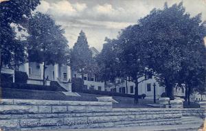 STAUNTION VIRGINIA~MARY BALDWIN SEMINARY~BEVERLY CIGAR STORE POSTCARD 1908 PSTMK
