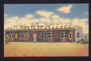 ROUTE 66 THE CONTINENTAL DIVIDE TRADING POST STORE NEW MEXICO LINEN POSTCARD