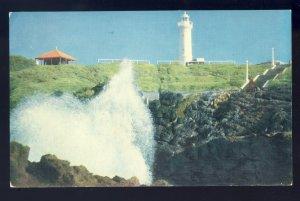 Kiama, Australia Postcard, The Blowhole & Lighthouse/Light, Frank Hurley Photo