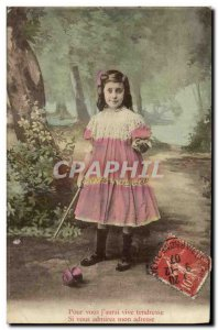 Old Postcard Diabolo Child