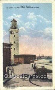 Light House Havana, Cuba Postcard Post Cards Old Vintage Antique 1927
