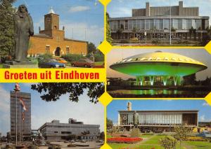 Netherlands Groeten uit Eindhoven / Holland, monument statue, Stadsschouwburg