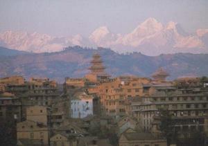 Bhaktapur Nepal Aerial Birds Eye Postcard